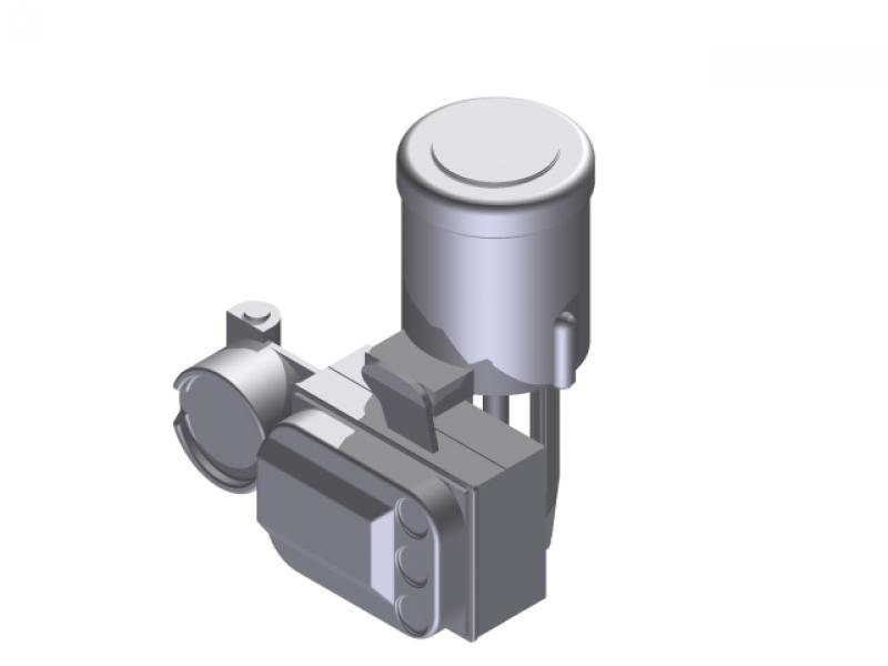 3D Library - Fisher 585C Piston Actuator - Hemce